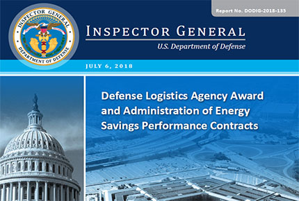 Defense Logistics Agency Award and Administration of Energy Savings Performance Contracts