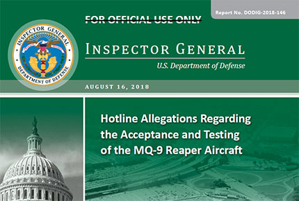 Hotline Allegations Regarding the Acceptance and Testing of the MQ‑9 Reaper Aircraft