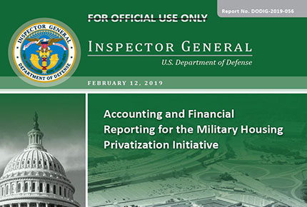 Accounting and Financial Reporting for the Military Housing Privatization Initiative