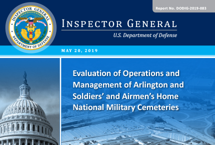 Evaluation of Operations and Management of Arlington and Soldiers' and Airmen's Home National Military Cemeteries
