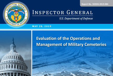 Evaluation of the Operations and Management of Military Cemetaries