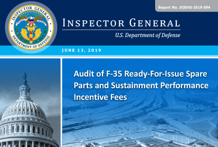 Audit of F‑35 Ready‑For‑Issue Spare Parts and Sustainment Performance Incentive Fees