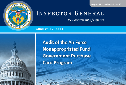 Audit of the Air Force Nonappropriated Fund Government Purchase Card Program