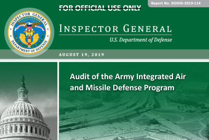 Audit of the Army Integrated Air and Missile Defense Program