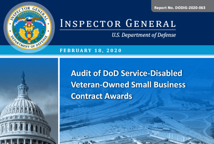 Audit of DoD Service-Disabled Veteran-Owned Small Business Contract Awards