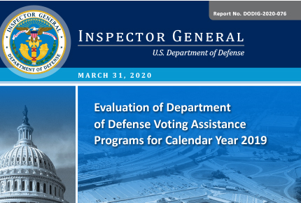 Evaluation of Department of Defense Voting Assistance Programs for Calendar Year 2019
