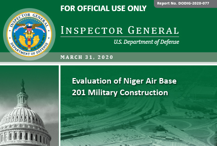 Evaluation of Niger Air Base 201 Military Construction