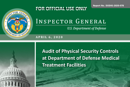 Audit of Physical Security Controls at Department of Defense Medical Treatment Facilities