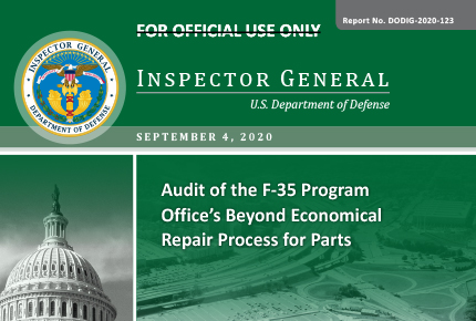 Audit of the F-35 Program Office's Beyond Economical Repair Process for Parts