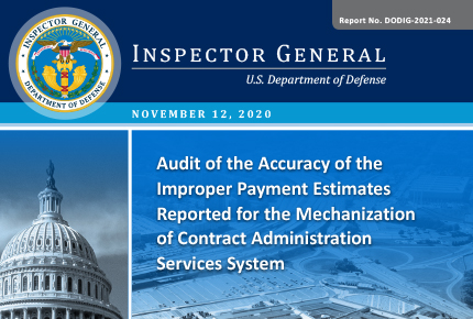 Audit of the Accuracy of the Improper Payment Estimates
