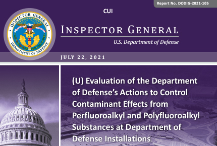 Evaluation of the Department of Defense's Actions to Control Contaminant Effects