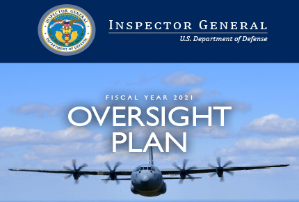 Fiscal Year 2021 Oversight Plan